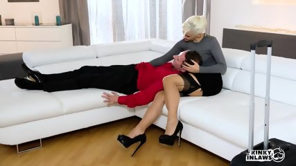 Stepmom Squirts In Hot Sex With Stepdaughter's Boyfriend - scene 3