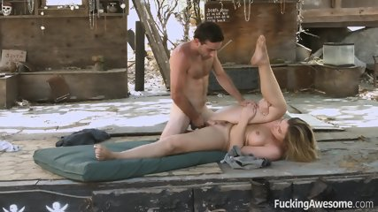 Outdoor Action With Sexy Blonde - scene 12