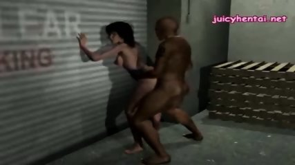 Horny 3d enjoying a black dick - scene 1