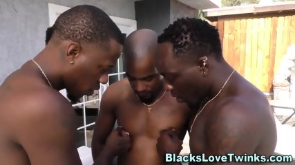 Gay Twink Gets Blacked