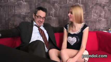 Pretty schoolgirl is tempted and shagged by her older schoolteacher