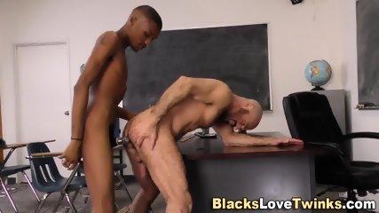 Black Twink Spunks Mouth