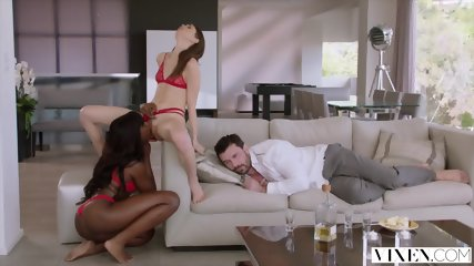 VIXEN Riley Reid Has Intense Threesome With Ana Foxxx And Boyfriend - scene 3