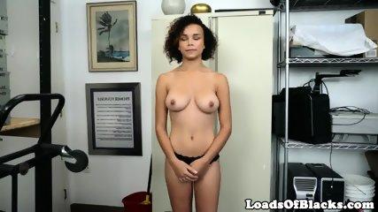 Busty casting babe interracially cocksucking