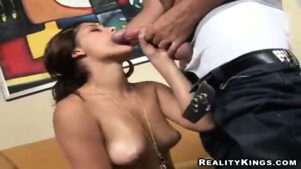 Marta, small titted latina warms up that white stud - scene 6