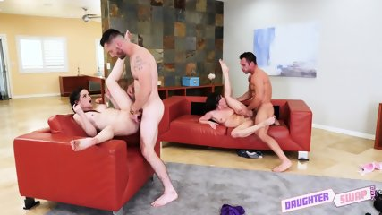 Swinger Action With Two Teens - scene 11