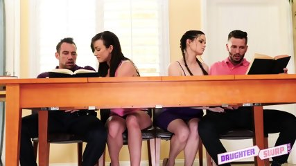 Swinger Action With Two Teens - scene 4
