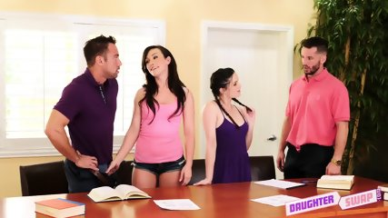 Swinger Action With Two Teens - scene 5