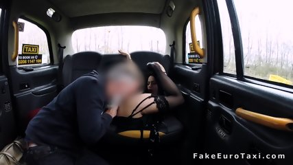 Petite hottie gets anal in fake taxi