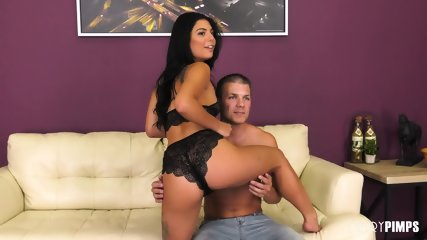 Attractive Girl Takes Dick On Sofa - scene 2