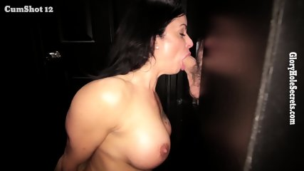 Mommy Sucks Cock Through Hole In Wall - scene 8
