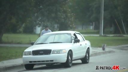 Black boner pounding brunette cop