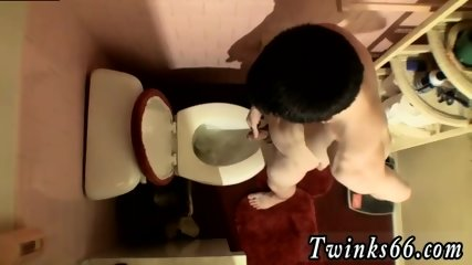 Old gay seniors drinking piss Unloading In The Toilet Bowl