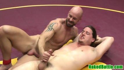Wrestling Jock Toys Hunks Ass Before Jerking Cumshot