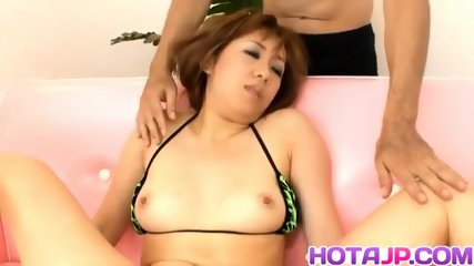 Yurina ends up with the pussy and ass fully stimulated - More at hotajp.com