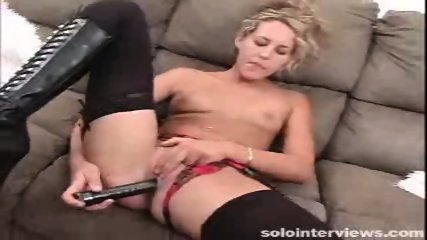 Horny blonde Laurie Ann making herself happy by masturbating - scene 6