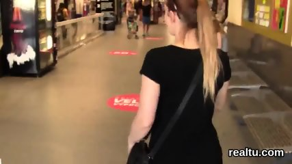 Striking czech nympho gets teased in the mall and reamed in pov