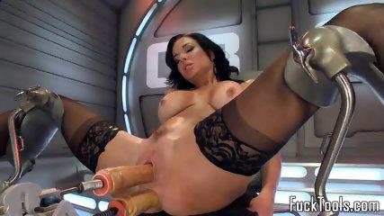 Anal Toying Ebony Babe Squirts Dildo Fucking - scene 8