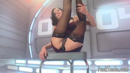 Anal Toying Ebony Babe Squirts Dildo Fucking - scene 1