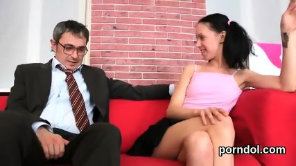 Erotic college girl was tempted and screwed by her older teacher