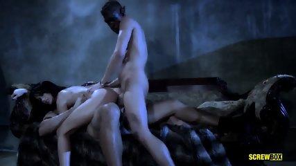 Double Penetration Of Wild Lady - scene 9
