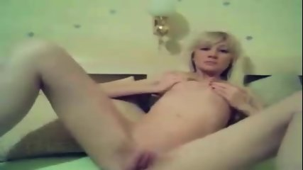 British Amateur Teen - Blonde Goes To Work On Her Pussy - scene 2