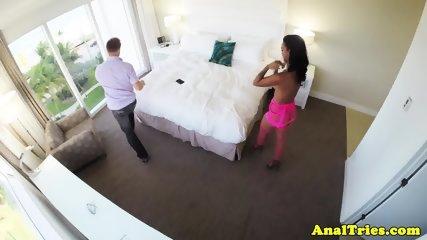 Tattooed girlfriend enjoys anal pounding