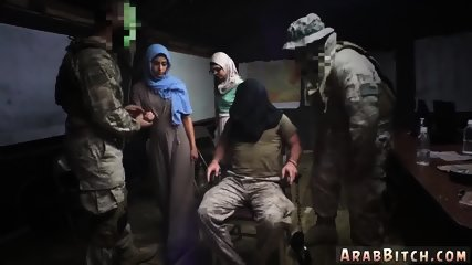 Arab american teen and gangbang Sneaking in the Base!