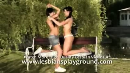 2 lesbos on the bench park - scene 6