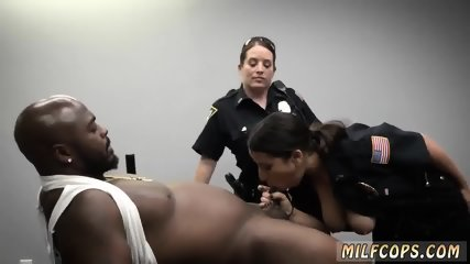 Blonde eaten in bar Milf Cops