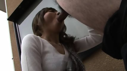 Teenage Girl Is On The Roof Sucking A Hard Cock - scene 7