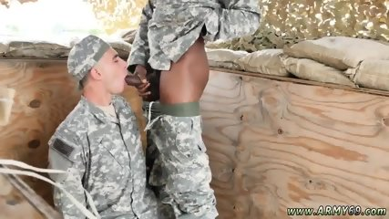 Military cum shooting party gay adult vid A game called a threesome!