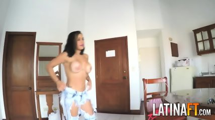 Lustful latina likes it hard and hard from behind