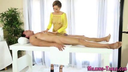 Gloryhole masseuse fucked