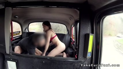 Spinner flashing ass to fake taxi driver