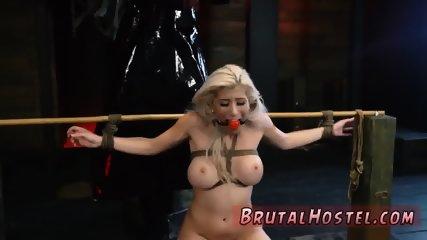 Bondage handjob milking extreme double gangbang Big-breasted platinum-blonde cutie Cristi