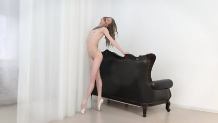 Ballerina Poses On Sofa - scene 11