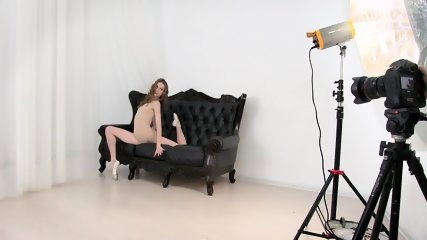 Ballerina Poses On Sofa - scene 1