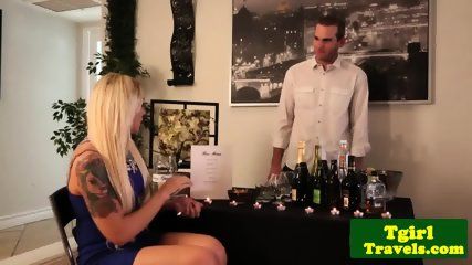 Busty tranny pornstar gets assfucked deeply