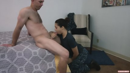 Navy Chick Decided To Do Porn In Her Uniform - scene 5