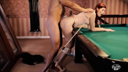 Pinup Redhead Gets Fucked On The Pool Table - scene 8