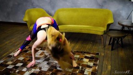 Fitness Girl Shows Pussy - scene 1