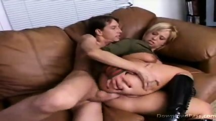 Georgia gets ass rammed on the couch - scene 2