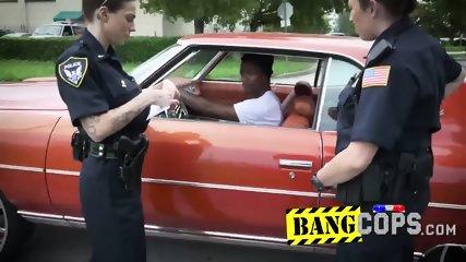Nympho cops got manhandled by black guy