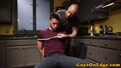 Submissive stud anally dildoed and edged