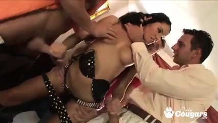 Stunning Lucy Belle gets double banged hard by shafts
