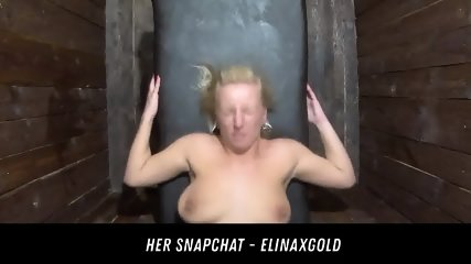 Uncensored Public Glory Hole Room HER SNAPCHAT - ELINAXGOLD
