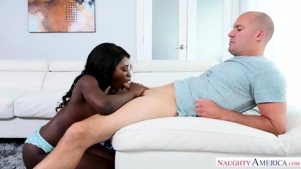 Big White Cock In Ebony Pussy - scene 4