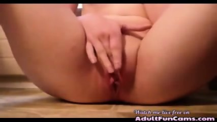 Big Pussy Lipped Teen Rubs Pussy To Orgasm