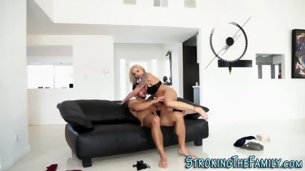 Busty stepmilf jizzed